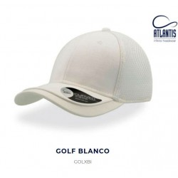 Gorra de golf técnica con el logo bordado
