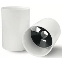 Copa de aluminio pintado en blanco