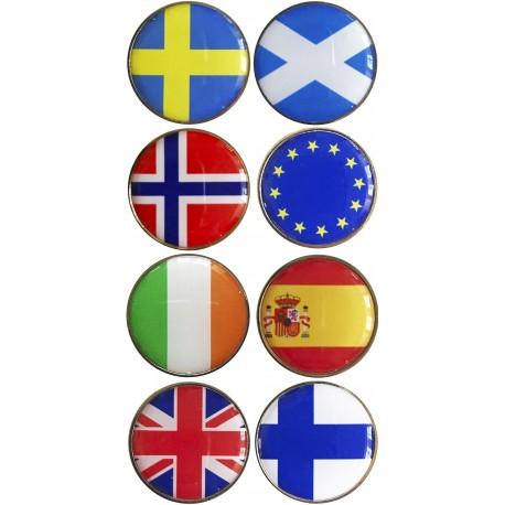 Marcadores de países.