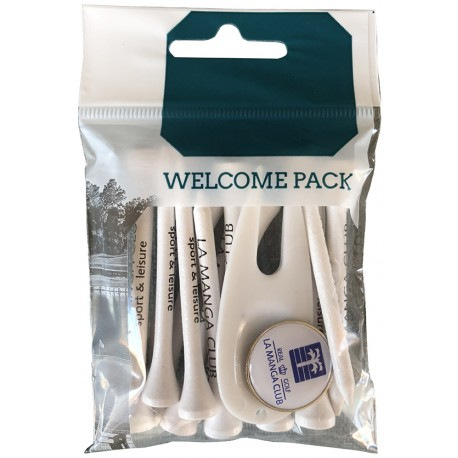welcome pack para torneos de golf