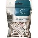 Bolsa de 50 tees personalizados de 54mm