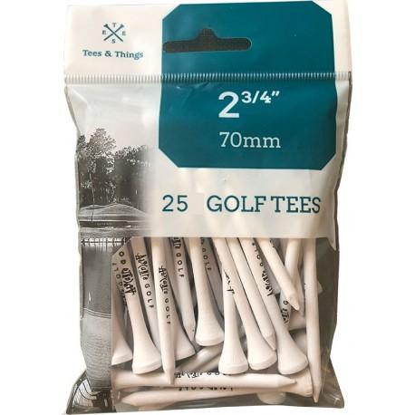 Bolsa de 25 tees de 70mm personalizados