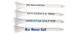 Tees de golf personalizados