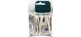 welcome pack para torneos de golf